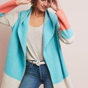 NEW Hooded Alpine Sweater Coat Field Flower Blue
